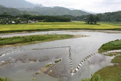 Bản người Lào bên dòng Nậm Mu