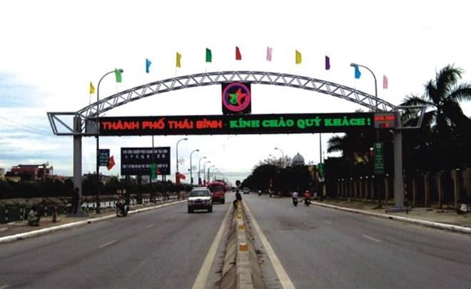 Cổng chào thành phố Thái Bình